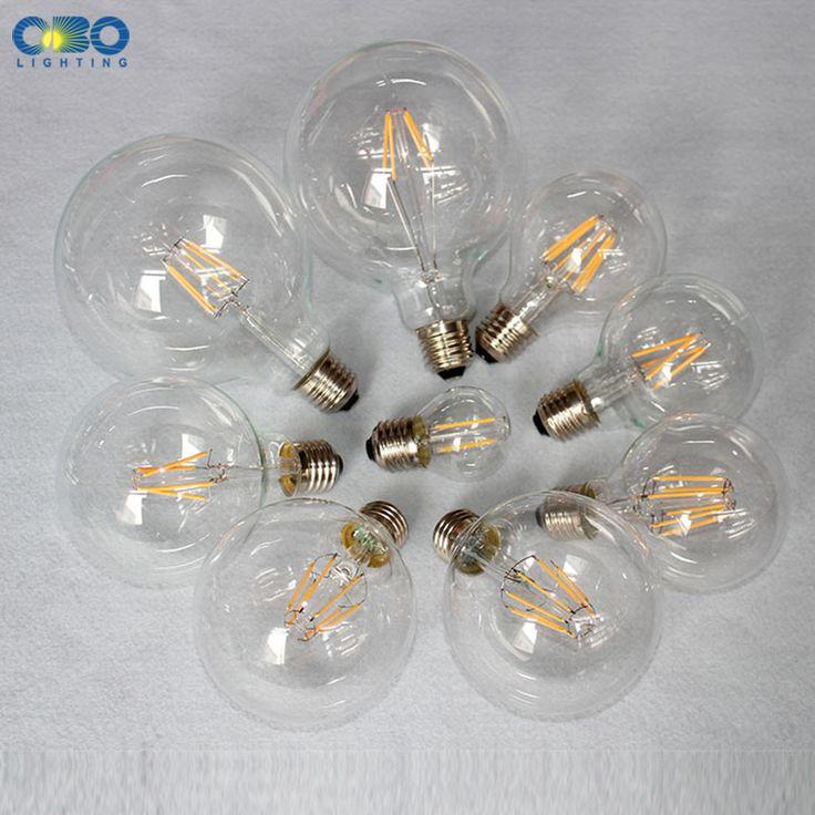 Edison Bombillas LED G80 G95/G125 E27 Soporte de La Lámpara 110-240 V Blanco Cálido Vintage Decoración de la Tienda Bombilla de Ahorro de energía Envío Gratis