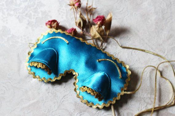 Holly Golightly eye sleep mask  Satin Breakfast at by EVESAdesign