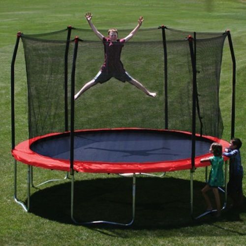 Great Great trampoline for your backyard And the safety net makes jumping safe
