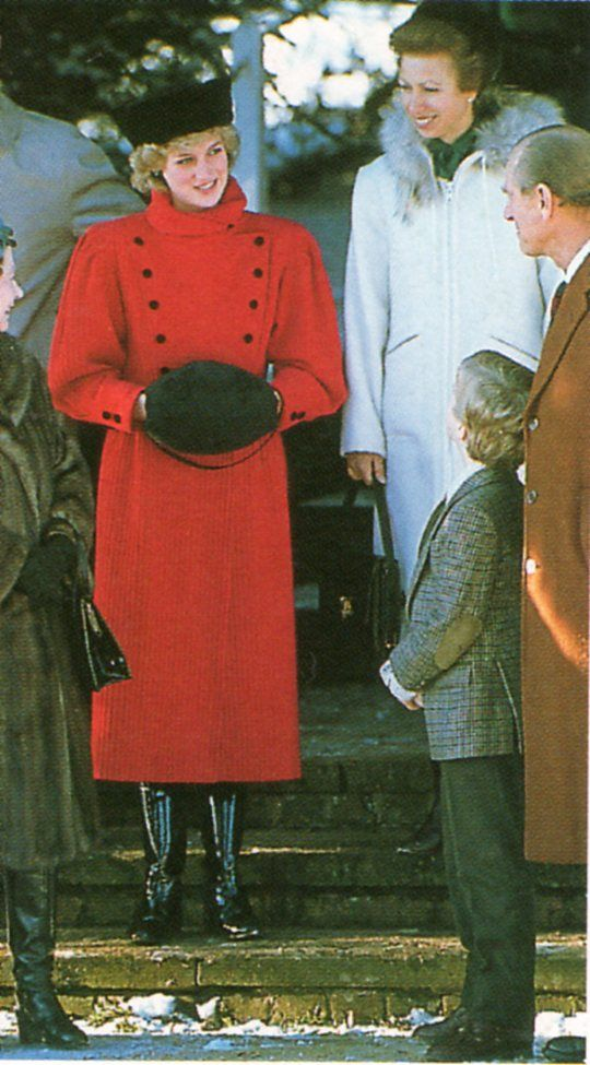 Princess Diana,Princess Anne, Prince Phillip,The Queen, young Prince William,Prince Andrew and the royal family