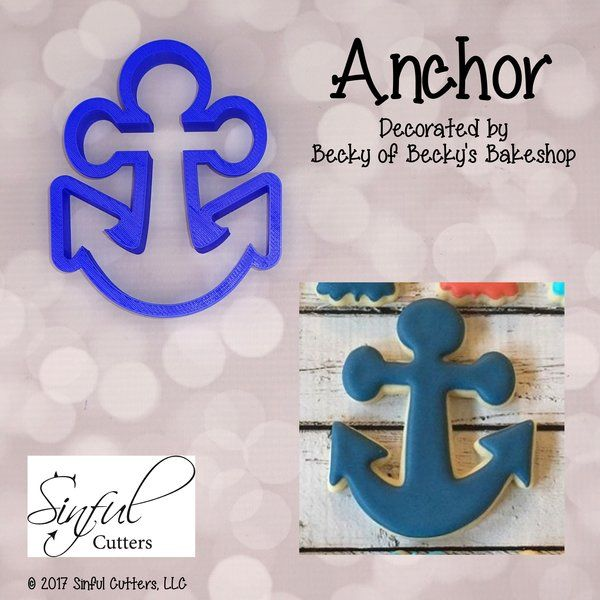 Anchor Cookie and Fondant Cutter