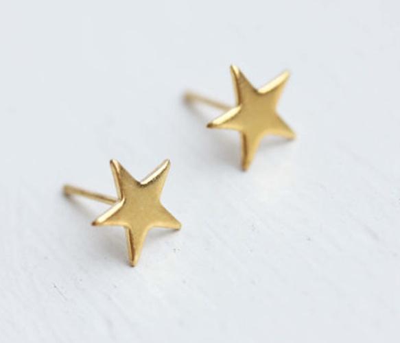 Tiny Gold Star Studs  #sponsored: Earrings Stars, Just Stars, Gold Stars, Studs Earrings, Studs Britney, Rachel, When I Was