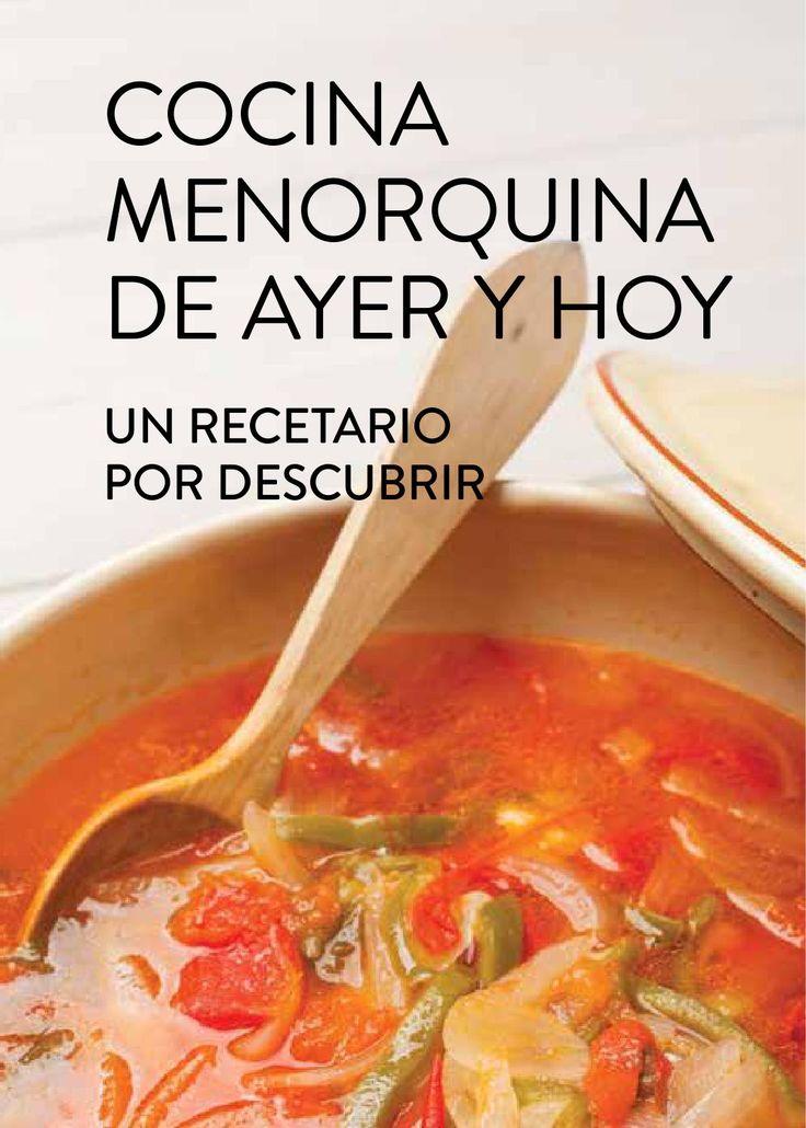 Cocina Menorquina de Ayer y de Hoy