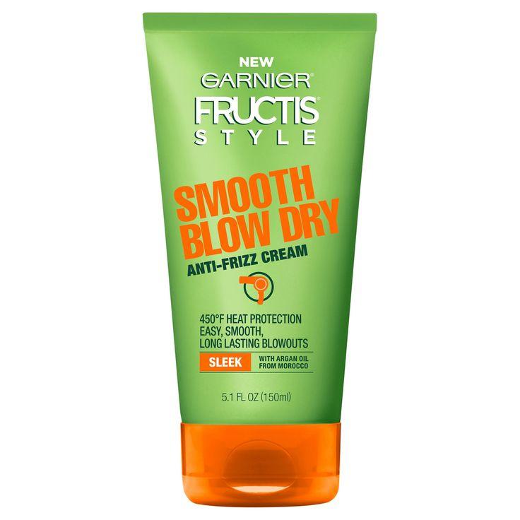 Garnier Fructis Style Smooth Blow Dry Sleek Anti Frizz Cream - 5.1 fl oz