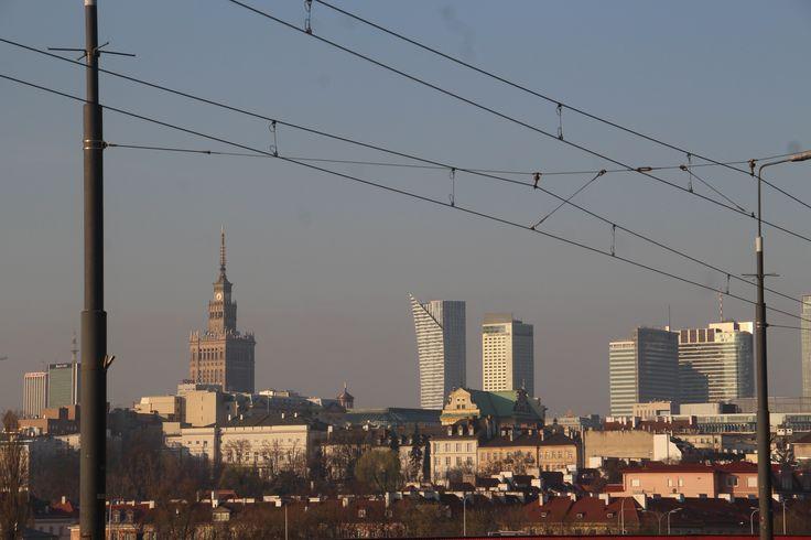 Widokówka Warszawy.