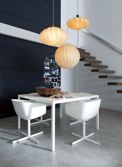 My Life in 80m²Lamps, Dining Rooms, Modern Interiors Design, Decor Ideas, Stairs, Room Layout, Diningroom, Small Spaces, Apartments Interiors