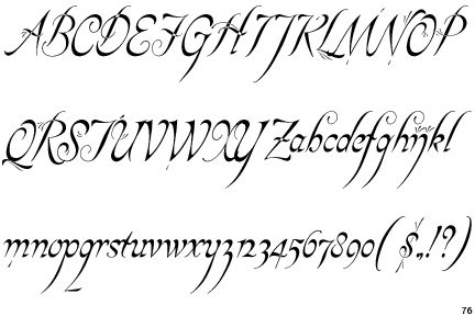 fonts for lord of the rings -