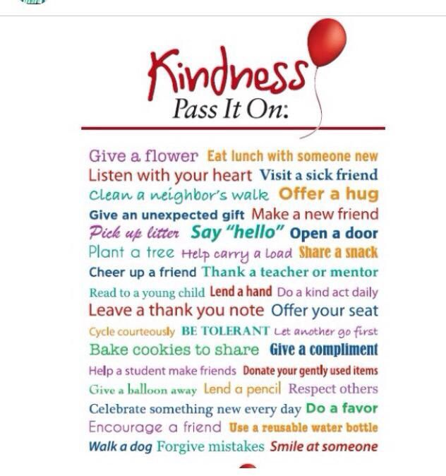 Kindness- pay it forward