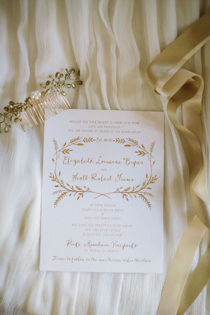 are labels on wedding invitations tacky%0A Elegant gold   white invitation suite  Photography   This Love Of Yours  Photography Read More