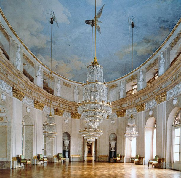 The Marmorsaal of Ludwigsburg Residential Palace