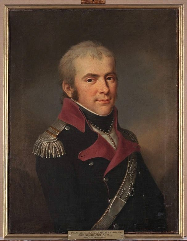 Major of the National Cavalry Francis Xavier Count Krasicki painter - Józef Pitschmann ca 1794-1806