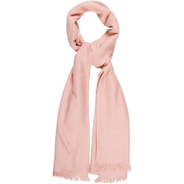 Pre-owned Herm?s Herringbone Ex Libris Stole ($645) ❤ liked on Polyvore featuring accessories, scarves, pink, hermes scarves, hermès, hermes shawl, pink scarves and pink shawl