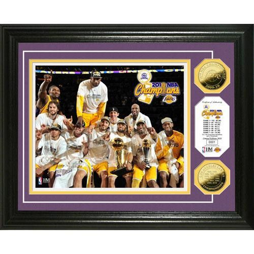 Los Angeles Lakers 2010 NBA Champions Celebration 24KT Gold Coin Photo Mint
