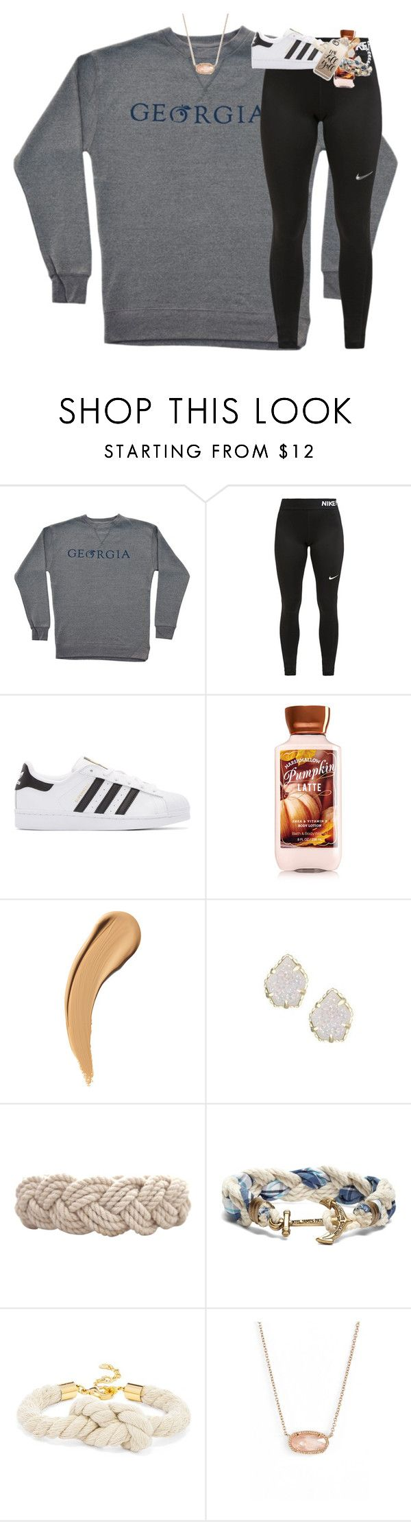 """""""relaxing monday. that's a first!"""" by classynsouthern ❤ liked on Polyvore featuring NIKE, adidas Originals, Kendra Scott, Swell, Brooks Brothers, BaubleBar and Casetify"""