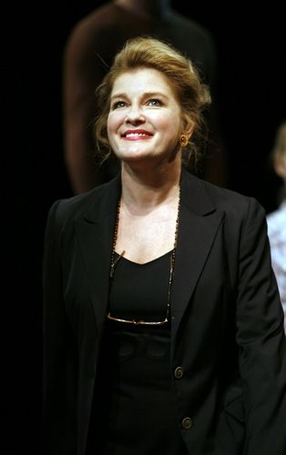 Kate Mulgrew - Curtain call, opening night Equus on Broadway where she played Hesther Saloman - 2008