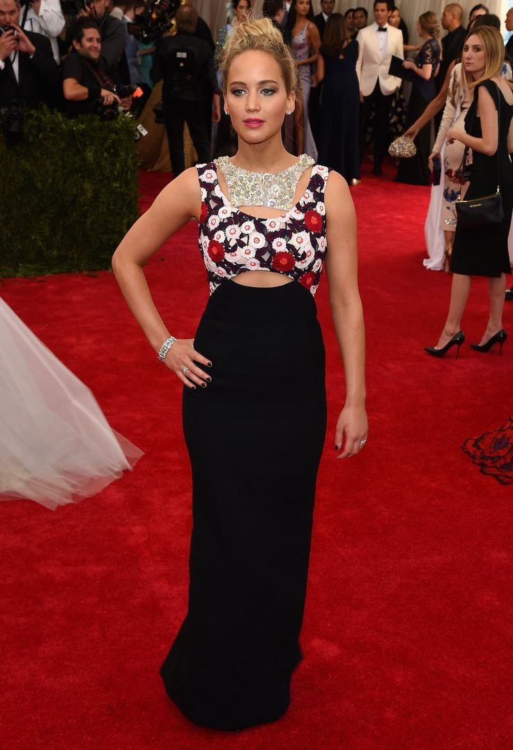 Jennifer Lawrence in Dior Haute Couture at the Met Gala 2015