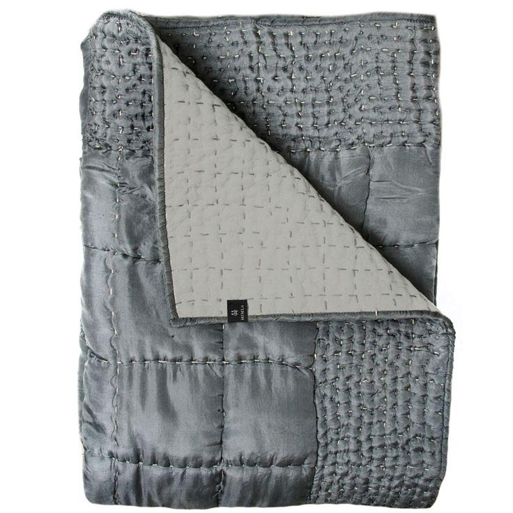 Delia Bedspread 1600x2400mm, Grey - Himla - Himla - RoyalDesign.com #himla #bedspread #forthebedroom #bedroomdesign #interiordesign #design #interior