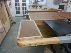 diy table saw extension - Google Search