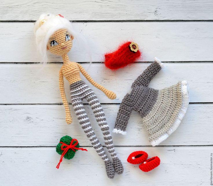 Купить Кукла амигуруми крючком. Мастер класс. Кристина - зимняя девочка. - амигуруми, амигуруми крючком