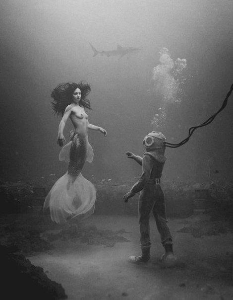 Mermaid meets Diver.