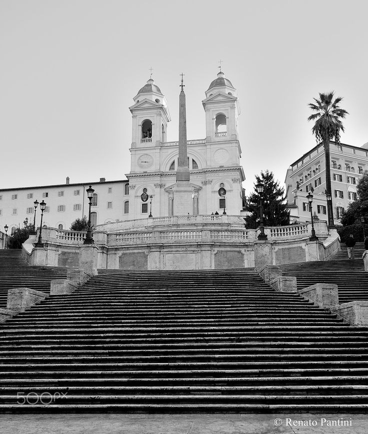Spanish Steps and Trinità dei Monti. - Taken in Rome, Italy. (December 2011)