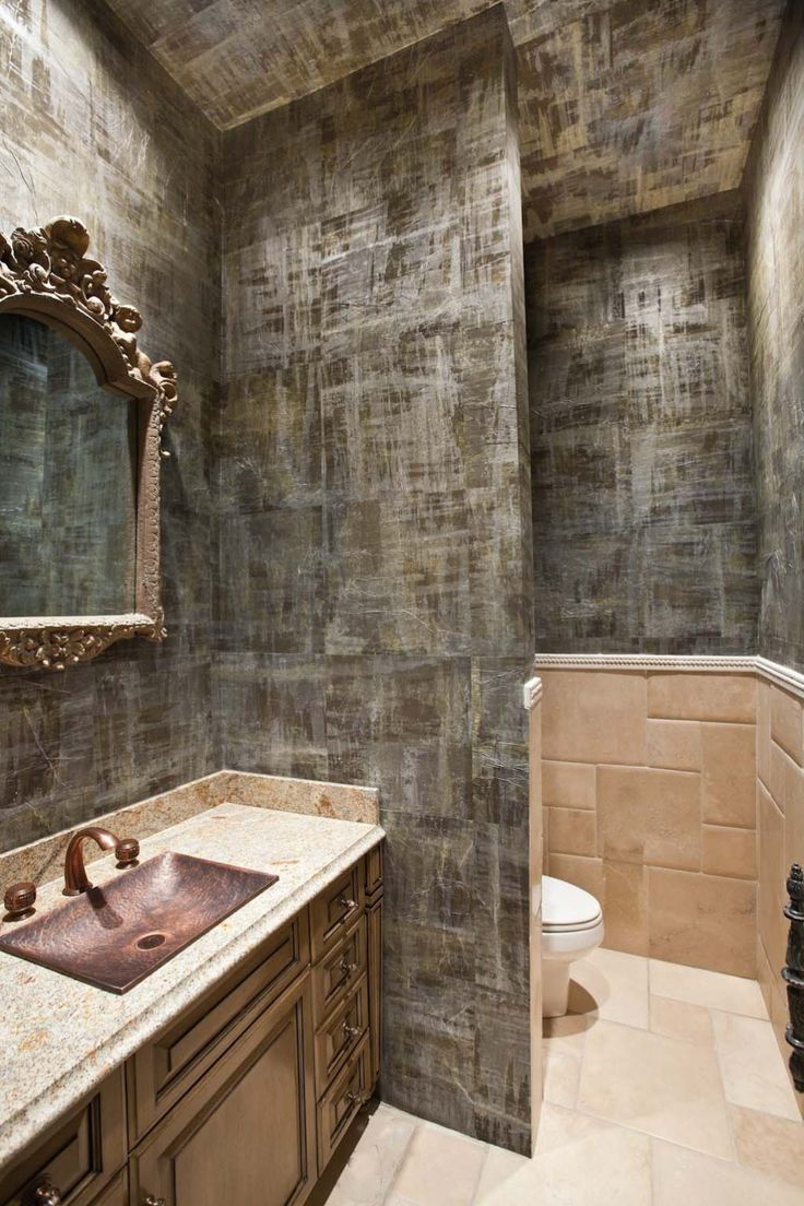 wall coverings for bathrooms - photo #23
