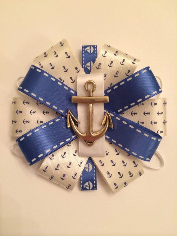 Nautical / Sailor Themed Baby Shower Mommy Corsage on Etsy, $10.00