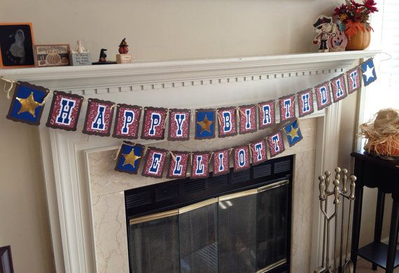 Country Western Theme Banner, country western birthday party, cowboy or cowgirl theme party on Etsy, $18.00