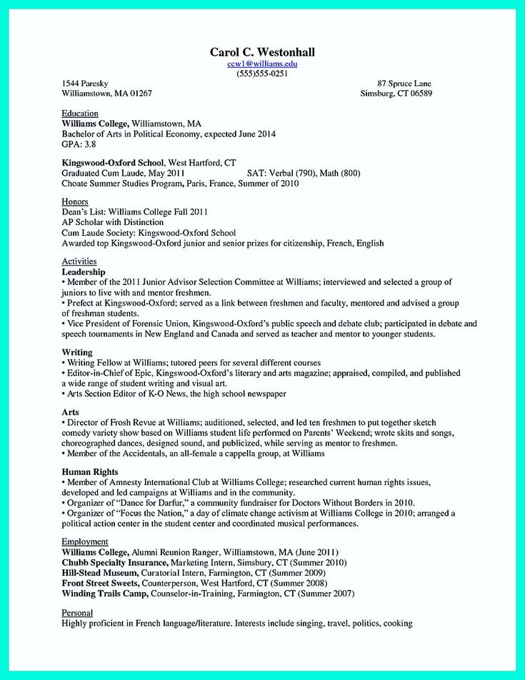 25+ unique College resume ideas on Pinterest Resume help, Resume - interests to put on resume