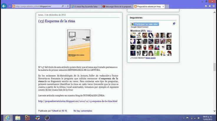 Como descargar libros de la preparatoria abierta actualizado 2014