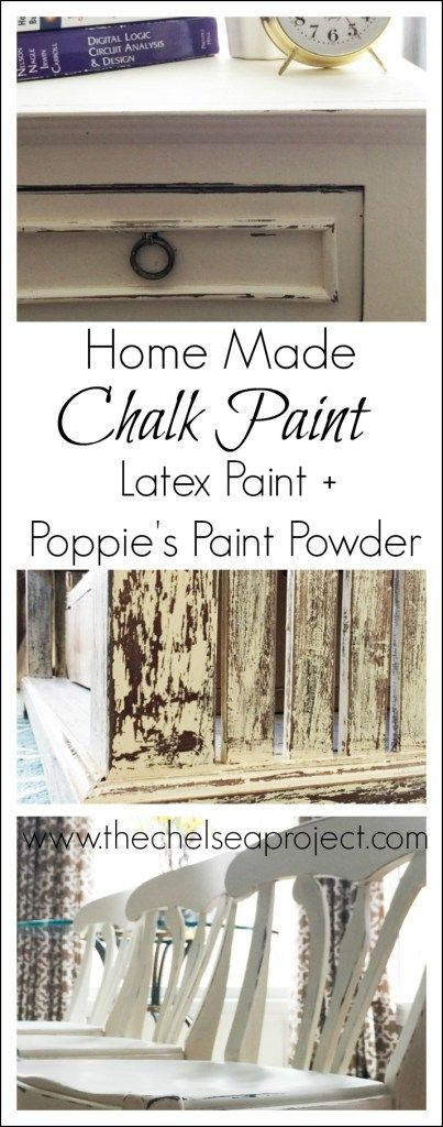 Home Made Chalk Paint | Latex paint + Poppie's Paint Powder | #sponsored | The Chelsea Project | www.thechelseaproject.com