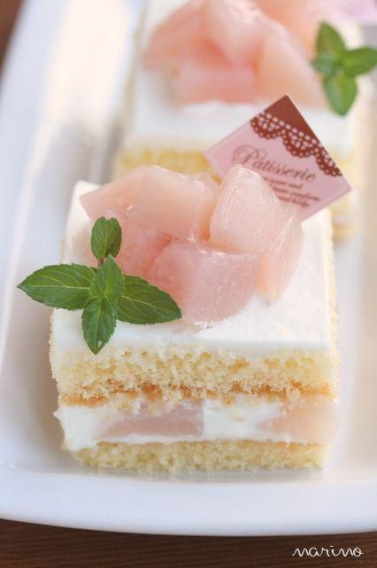 桃のショートケーキ♪ レシピ付♪