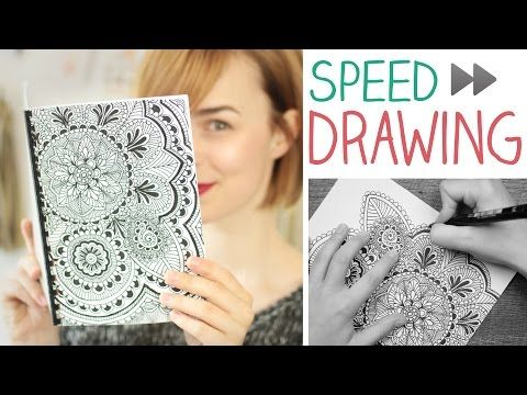 DIY Speed Drawing Mandala/Zentangle - Notizbuch selbst machen - alive4fashion - YouTube