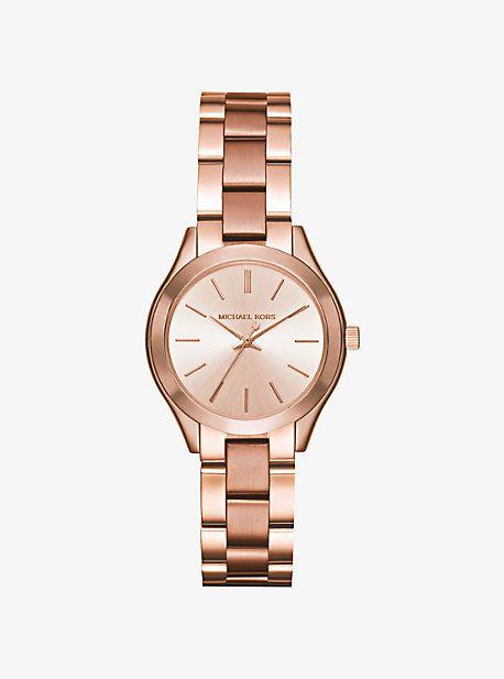 Mini Slim Runway Rose Gold-Tone Watch