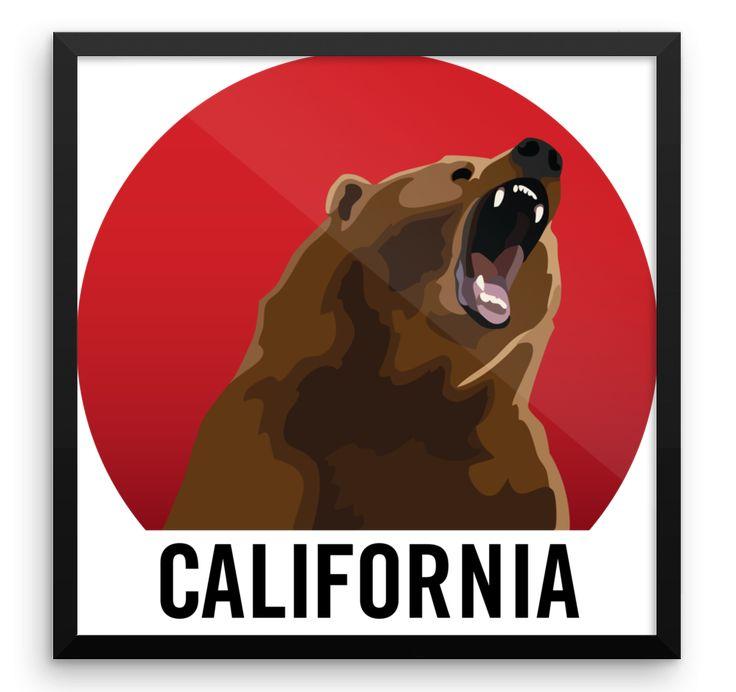 Wall Art / California Bear Growl at Sunset