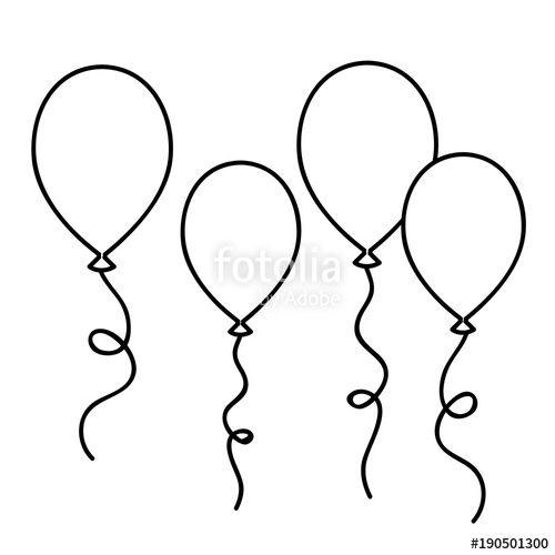 ausmalbild luftballon  googlesuche  luftballons