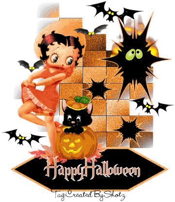 animated gif of betty boop halloween and free images gifmania - Free Animated Halloween Cards
