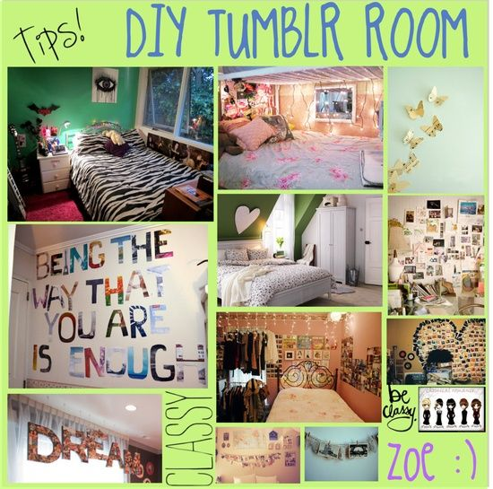 DIY Tumblr Room. Definetly doing this stuff to my room :D