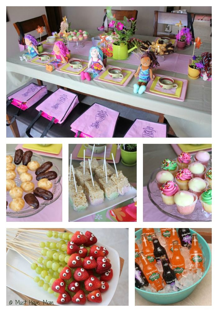 Dolly Garden Party Food (how to host a garden party for little girls)