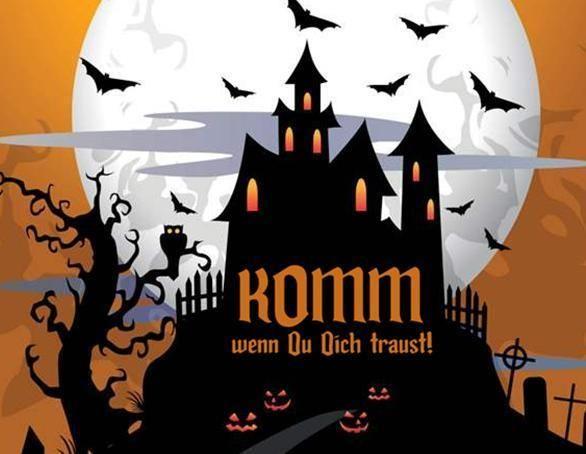 Halloween Einladung Einladungskarte Halloweenparty von Princess Dreams - Feste des Lebens auf DaWanda.com