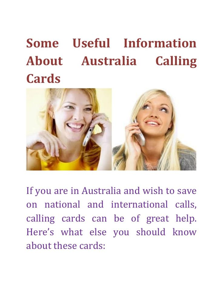 If you are in Australia and wish to save on national and international calls, calling cards can be of great help. Get Australia calling cards from CallGenius and save on national and international calls.