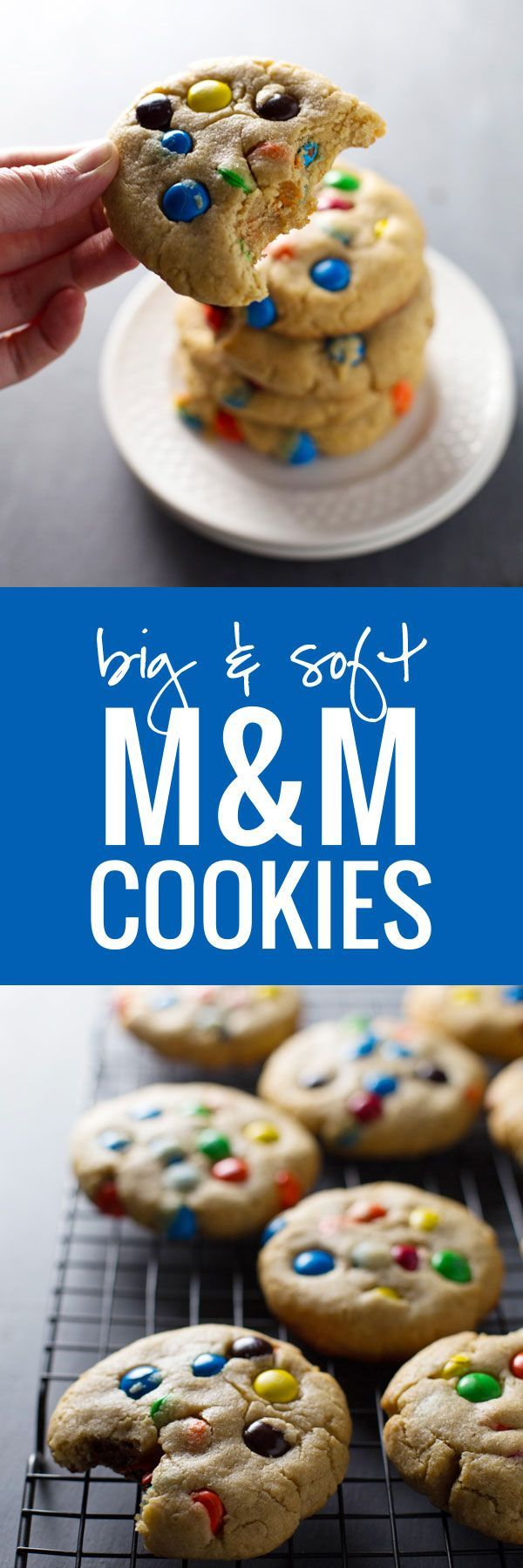 Big Soft M&M Cookies | YUM