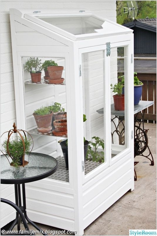 small greenhouse to the patio or balcony