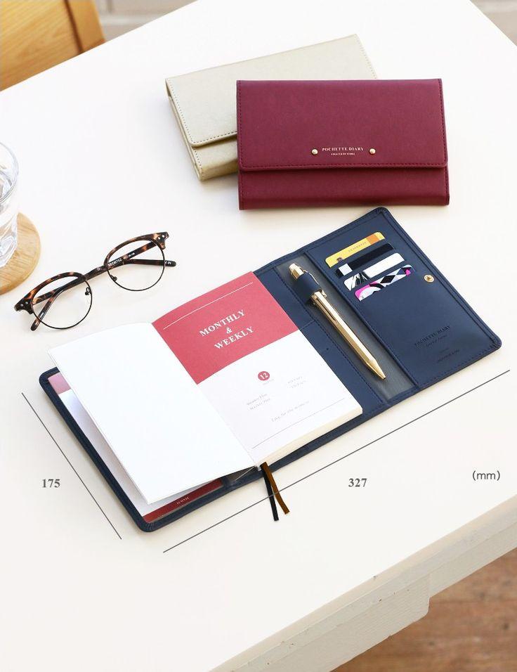 Pochette Leather Diary Wallet v2