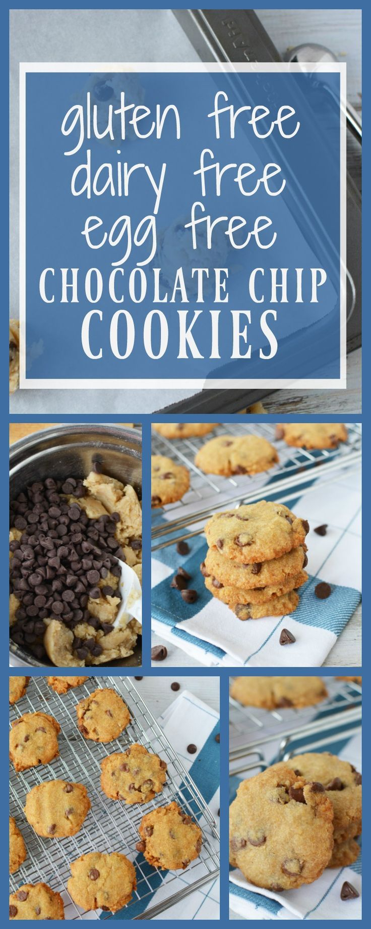 """No, these aren't """"diet cookies"""" but they are made without wheat, eggs or dairy. And they're delish!   Gluten Free egg free chocolate chip cookies