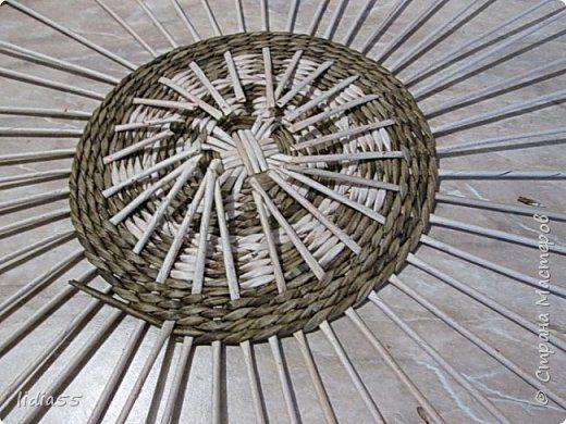 Мастер-класс Поделка изделие Плетение кашпо  или ваза  и как я ЭТО делала  Трубочки бумажные фото 10