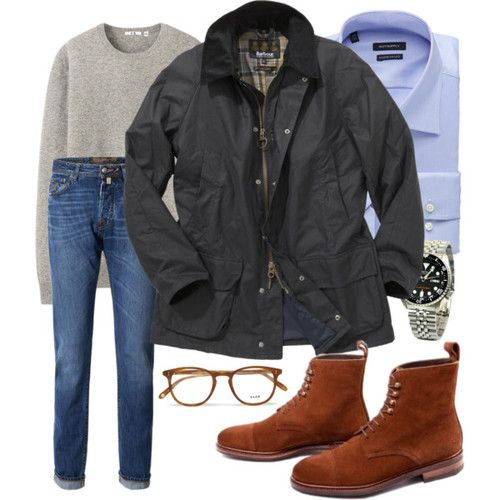 Monday inspiration - casual and affordable Jacket: Barbour Cashmere sweater: Uniqlo Jeans: Weekday Shirt: Suitsupply Boots: Meermin Watch: ...