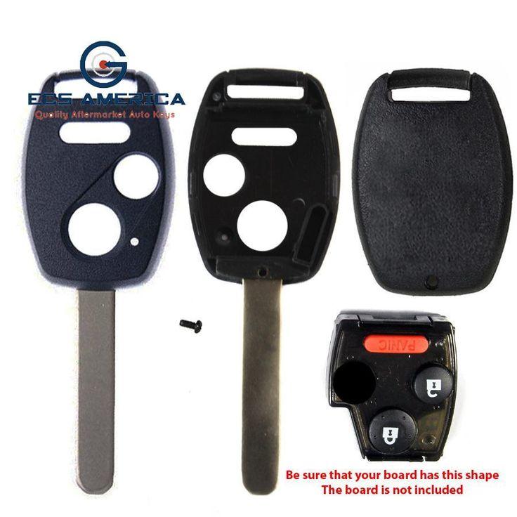2005 - 2013 Honda Remote Key Shell 3B W/ Chip Holder