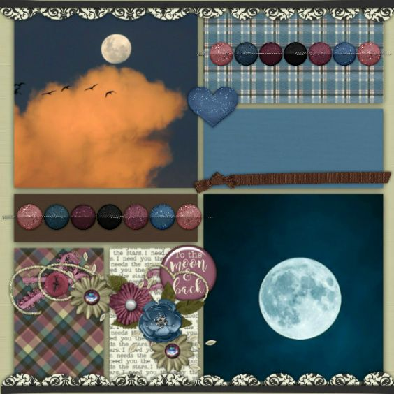 Layout created using Hung the Moon by Miss Mis Designs