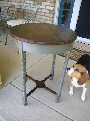 I like the Gray bottom with the stained top. END TABLES!